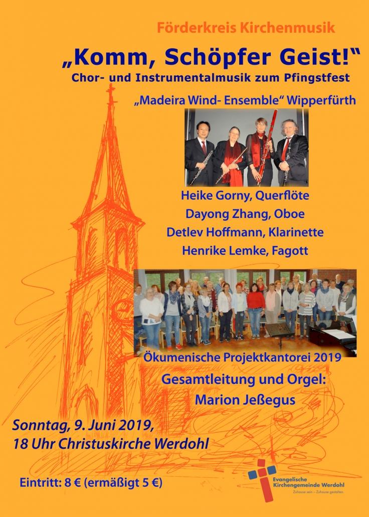 """Förderkreis Kirchenmusik - """"Komm, Schöpfer Geist!"""""""